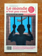 The Le monde n'est pas rond artistic newspaper. Cover by Chandre.