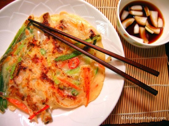 Korean Squid Pancakes (Ojingeo Buchimgae)