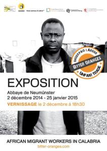 As of 2nd December 2014, a selection of photographs and first-person testimonies from Bitter Oranges will be exhibited at the Abbaye de Neumünster in Luxembourg. In 2015, the exhibition will travel to Vienna, Innsbruck, and Rome.